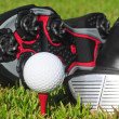 Golf Shoes and Ball — Stock Photo