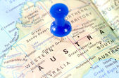 Australia Map — Stock Photo