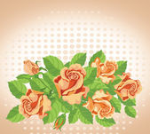 Roses card fine — Stockvektor