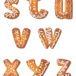 Set cookie letters S to Z - Stock Vector