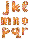 Set cookie letters J to R — Stock Vector