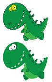 小小搞笑恐龙 — 图库矢量图片