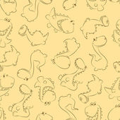 Bezszwowe dinos pastelowe — Wektor stockowy