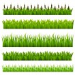 Set from grass — Stock Vector