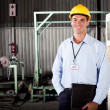 Stock Photo: Techniciin factory
