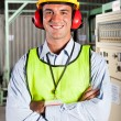 Modern factory worker — Stock Photo