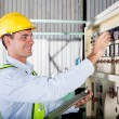 Industrial machine operator — Stock Photo