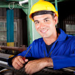 Industrial mechanic at work — Stockfoto
