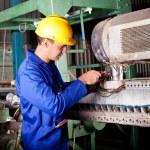 Industrial mechanic repairing machine — Stock Photo #10229633