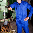 Stock Photo: Industrial machinist portrait
