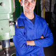 Portrait of industrial machinist - Stock Photo