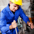 Stock Photo: Machinist working vice grip