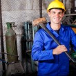Blue collar worker — Stock Photo