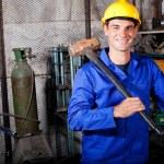 Blue collar worker — Stock Photo