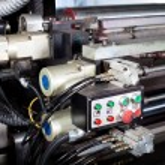 Control switch of modern printing machine — Stock Photo