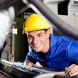Stock Photo: Modern blue collar worker