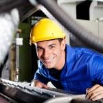 Modern blue collar worker — Stock Photo