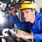 Modern machine operator — Stock Photo