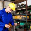 Factory worker in workshop — Stock Photo