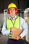 Industrial worker with personal protective equipment — Stok fotoğraf