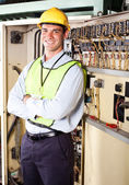 Industrial electrician — Stock Photo