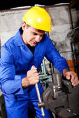 Machinist working vice grip — Stock Photo