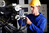 Operador de máquina industrial — Fotografia Stock