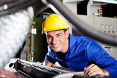 Modern blue collar worker — Stock Photo