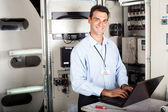 Professional industrial technician — Stock Photo