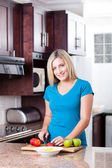 Modern woman cooking — Stock Photo