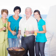 family barbeque — Stock Photo