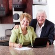 Happy senior couple at home — Stock Photo