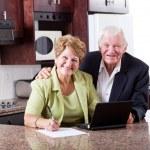 Happy senior couple at home — Stock Photo