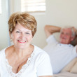 Happy senior woman and husband — Stock Photo