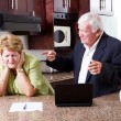 Stock Photo: Senior husband accusing wife