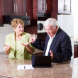 Elderly couple having argument — Stock Photo