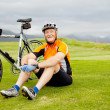 Senior cyclist — Stock Photo