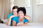 Middle aged mother and teenager daughter — Stock Photo