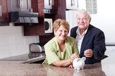Saving for retirement — Stock Photo