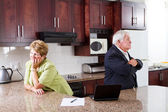 Senior couple divorce — Stock Photo