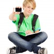 Teen boy with smart phone — Stock Photo