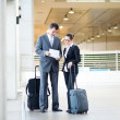 Business meeting at airport — Stock Photo