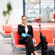 Businesswoman at airport — Stock Photo #10422806