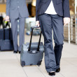 Passengers walking in airport — Stock Photo