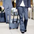 Passengers walking in airport — Stock Photo