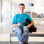 Young man waiting flight — Stock Photo #10422958