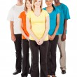 Stock Photo: Full length of group of