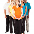 Group of young multiracial - Foto Stock
