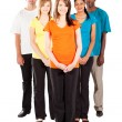 Stock Photo: Group of young multiracial