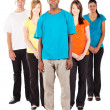 Group of young diverse — Stock Photo